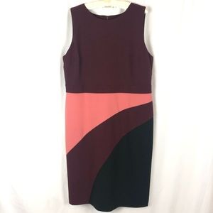 AnnTaylor Sleeveless Colorblock Shift Dress 16 NWT